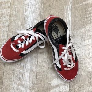 Vans black and red snake print low top size 8